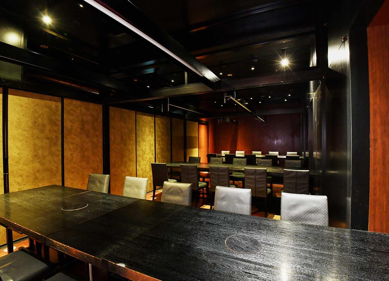 テーブル席 個室 大広間  良仁、三郎、篠  (三部屋連結仕様)
