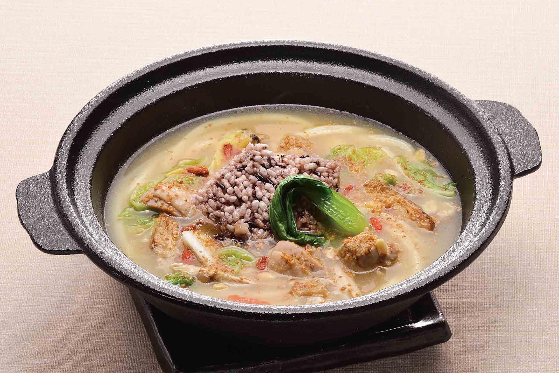 胡麻 鶏白湯スープのおうどん