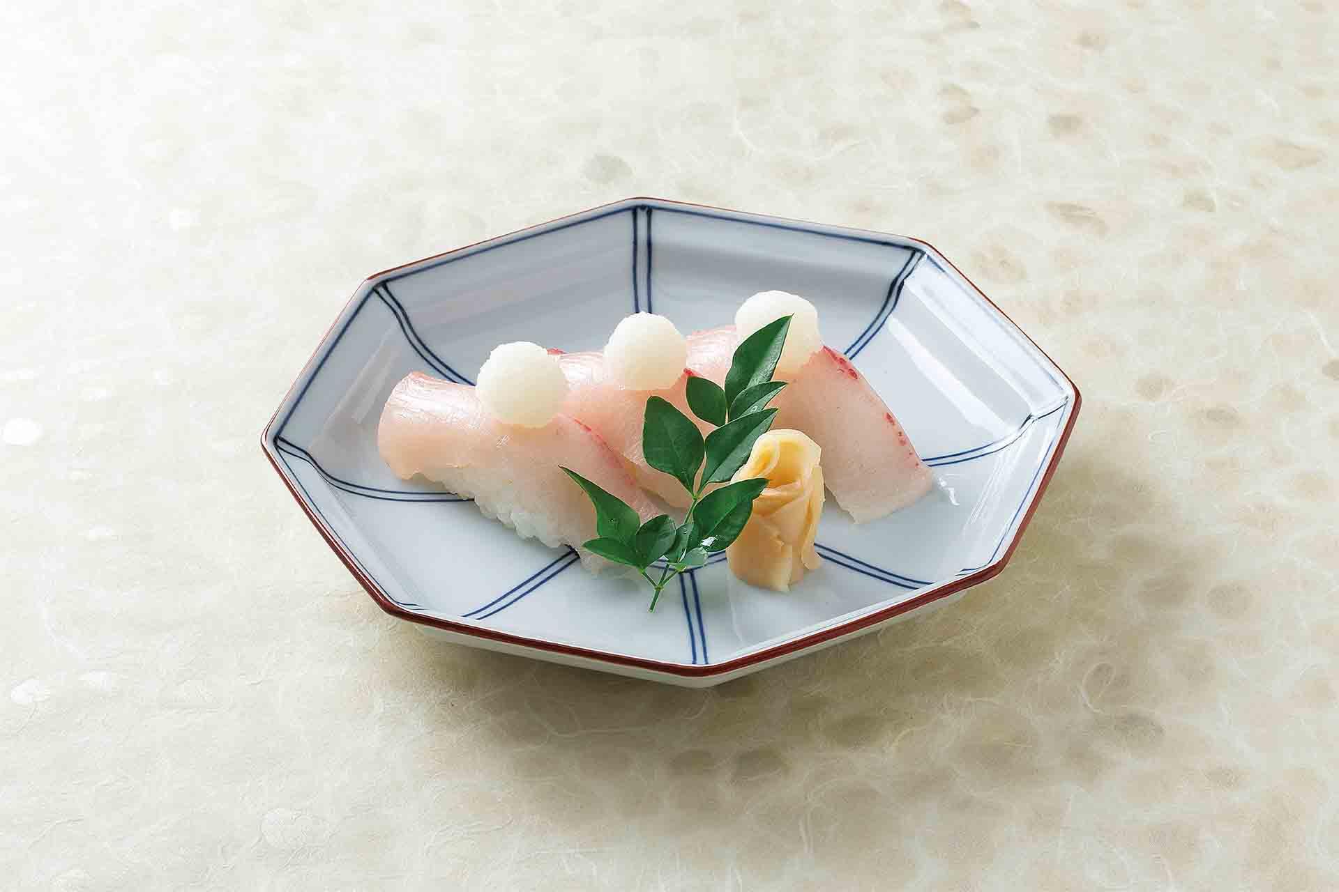 寒鰤の握り寿司