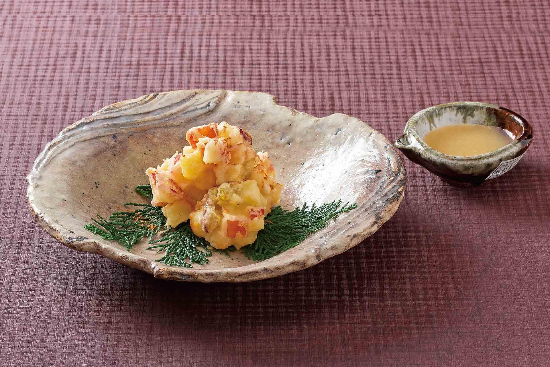 林檎と蜜芋揚げ 蜂蜜バター