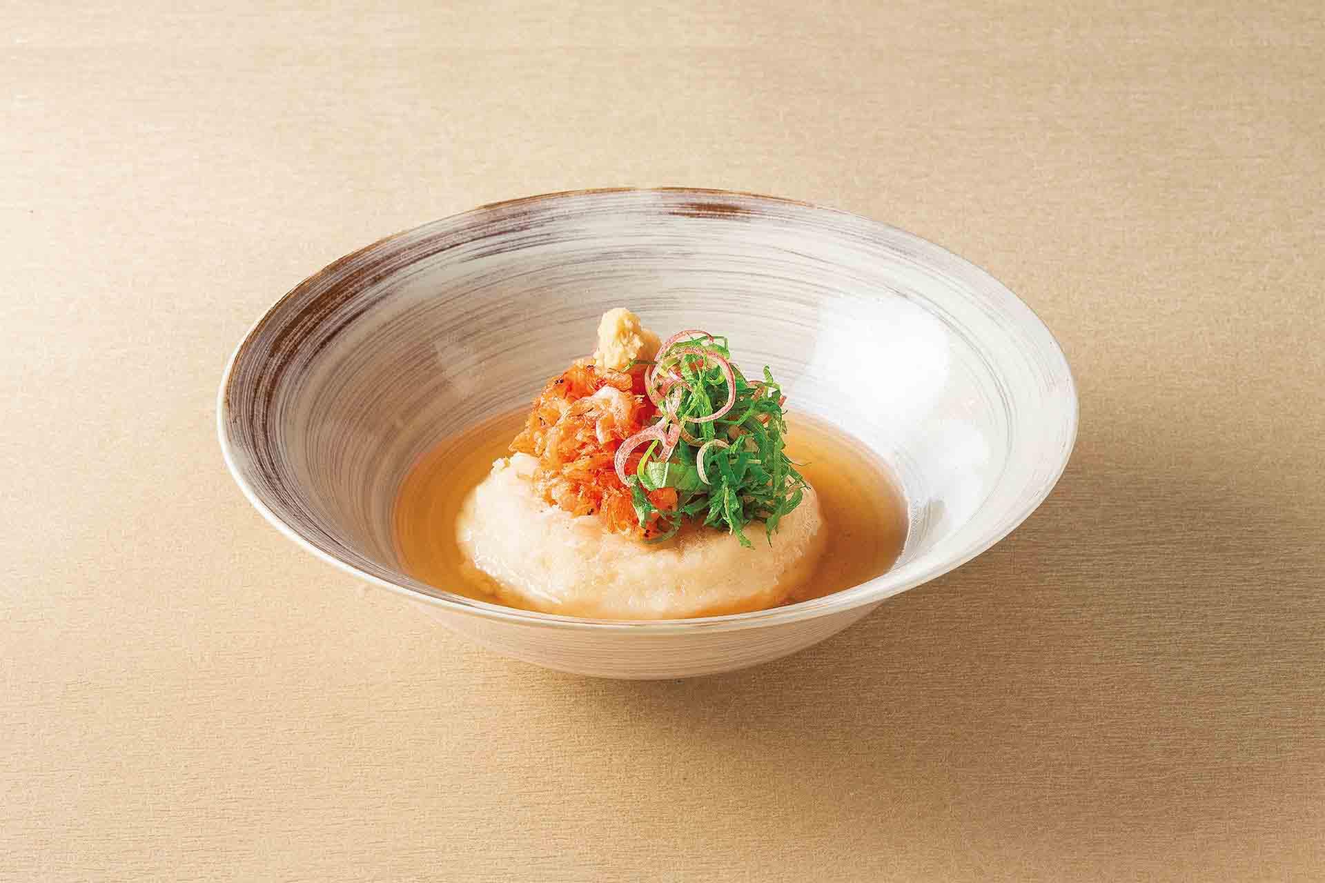 桜海老の揚げだしとろみ豆腐