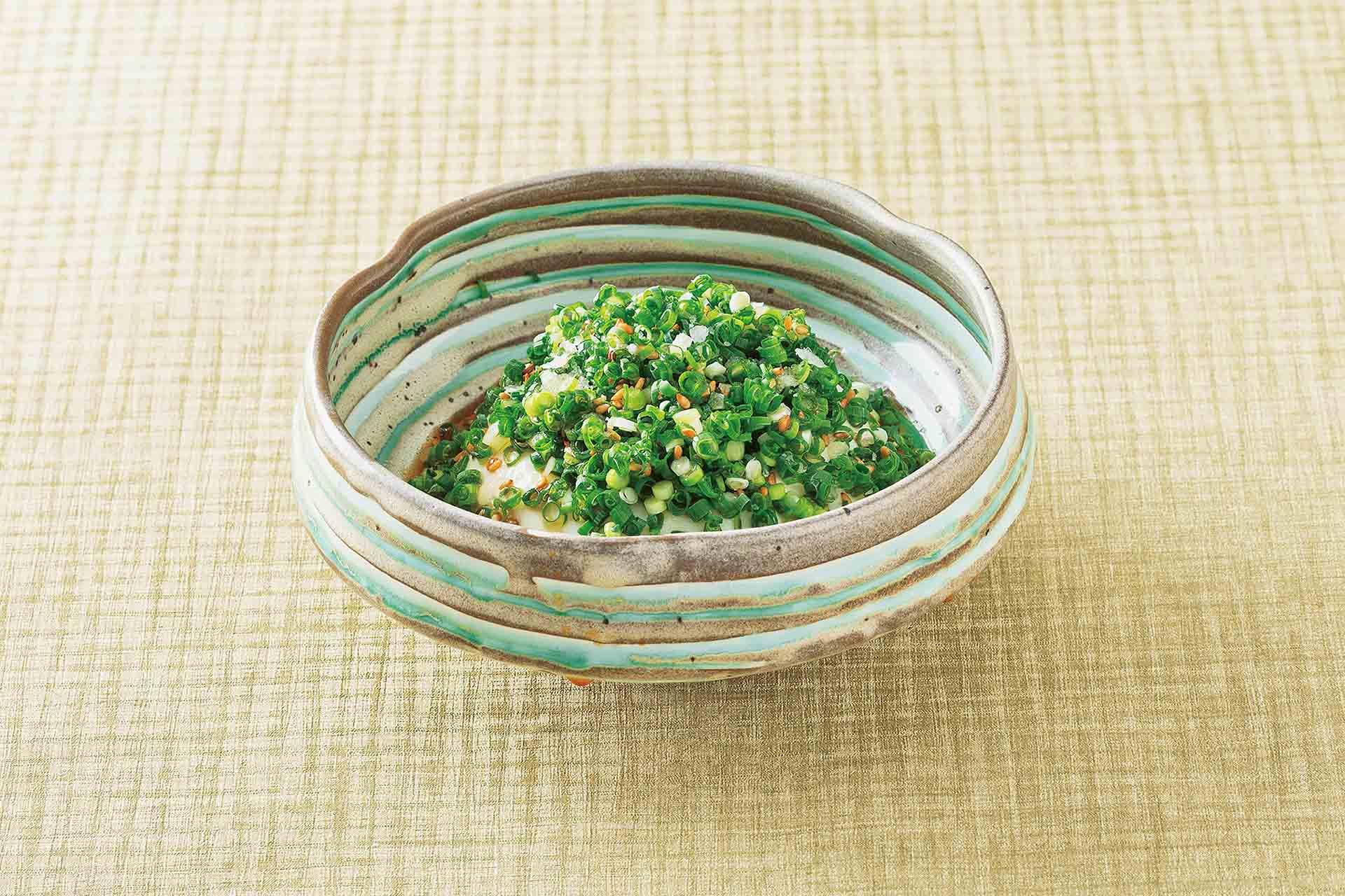 葱塩だれ とろみ豆腐